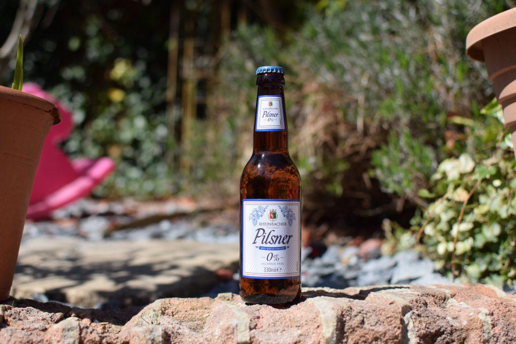 Rheinbacker Pilsner Aldi 0% beer bottle