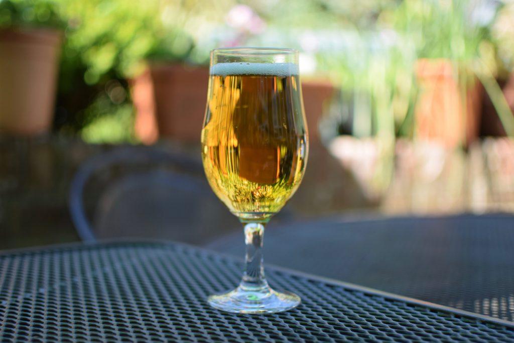 Rheinbacker Pilsner Aldi 0% beer in glass
