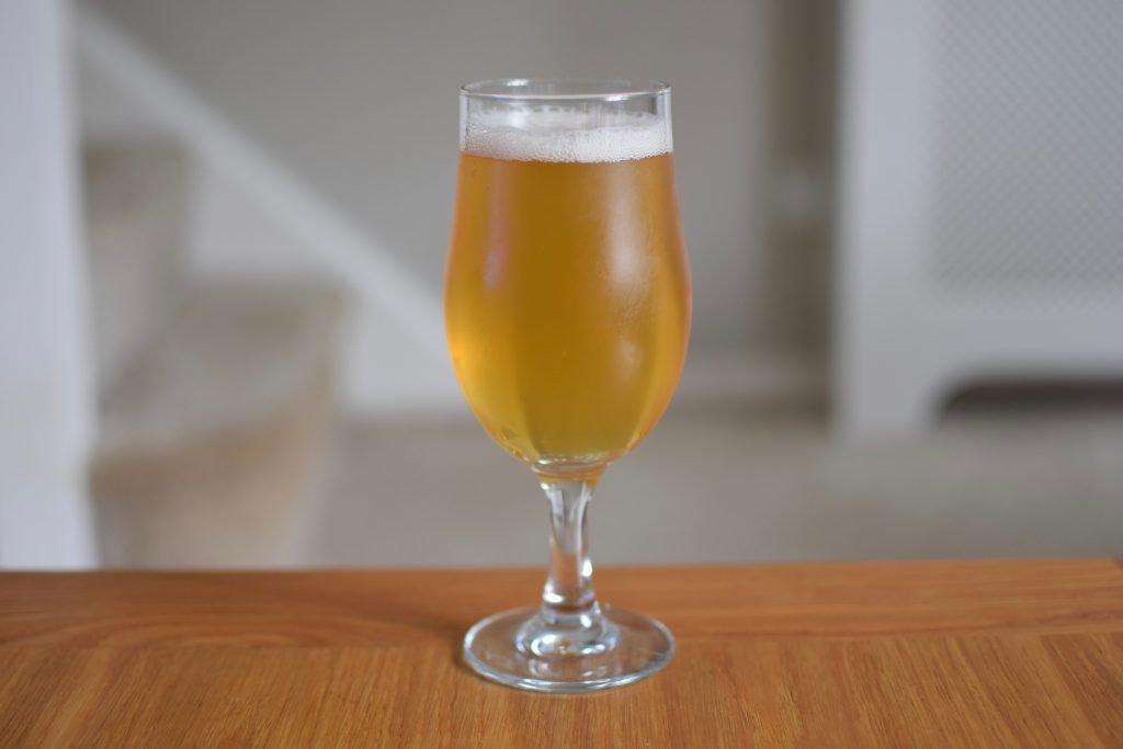 Glass of Sambrook's Stand Easy non-alcoholic beer