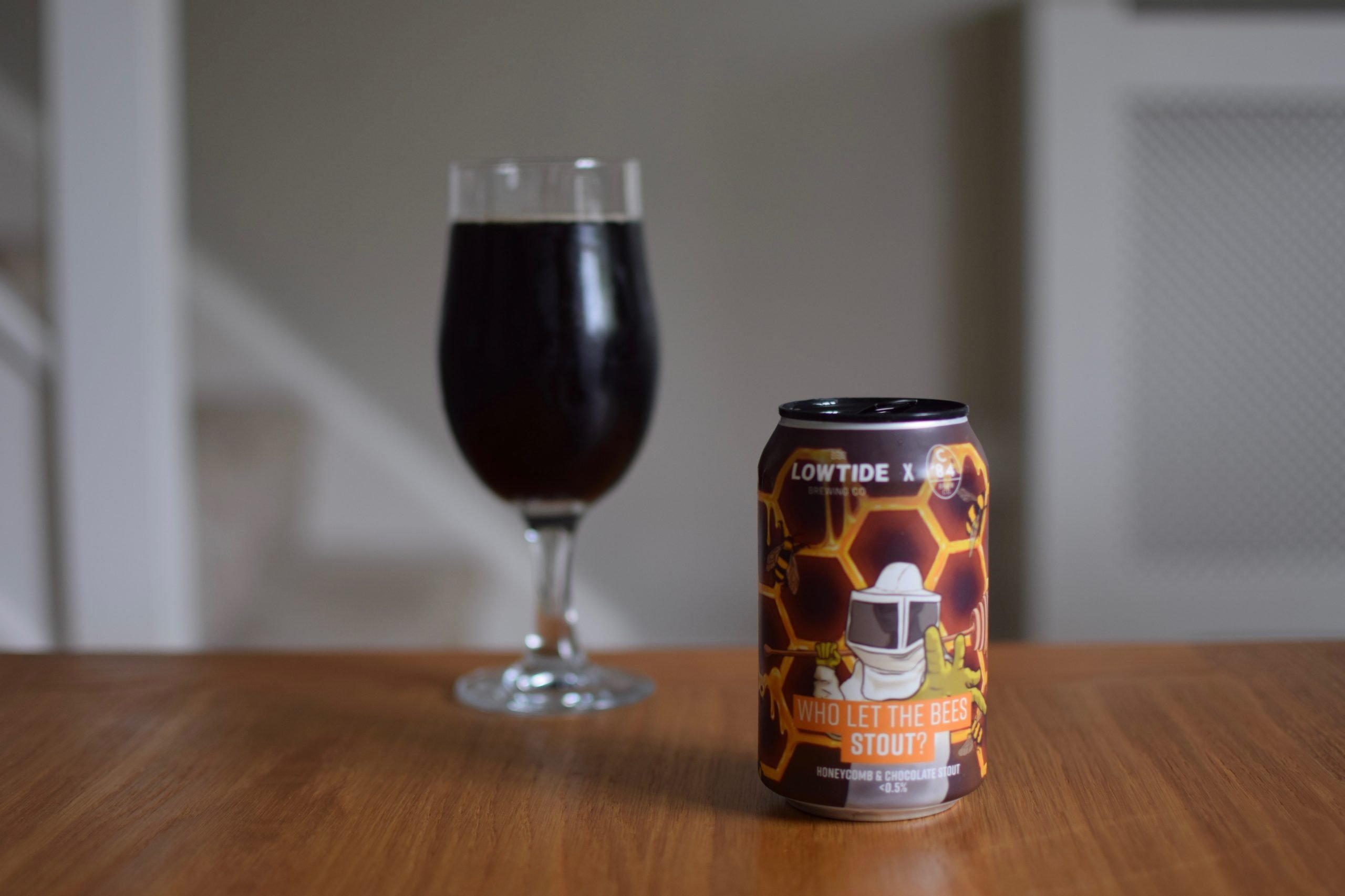 """""""Who Let the Bees Stout"""" (0.5%) by Low Tide Brewing Co and C'84 Brew Co"""