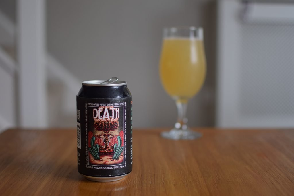 Mash Gang I Am Become Death Destroyer of Worlds Alcohol Free NEIPA - glass and can design