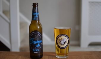 Sainsbury's Session Ale - bottle and glass