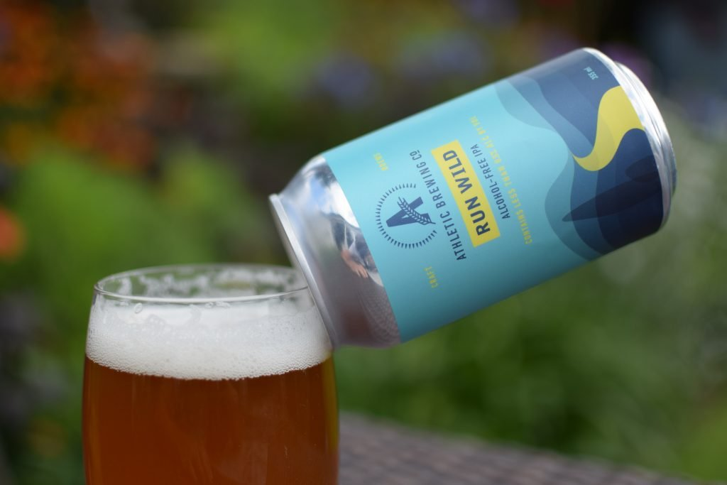 Athletic Brewing Run Wild IPA - can and glass