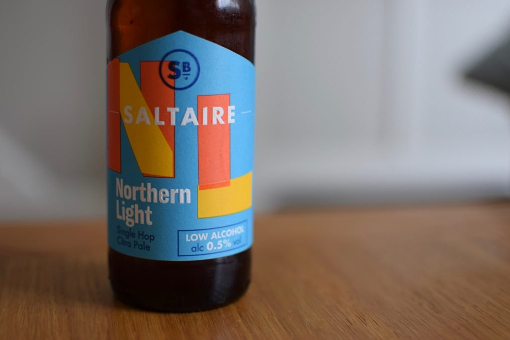 Saltaire Northern Light label close up