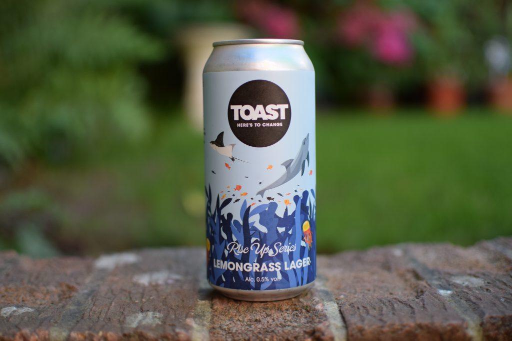 Toast Lemongrass Lager can